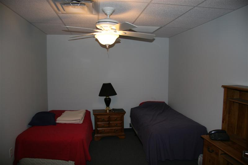 A view of one of the bunk rooms.
